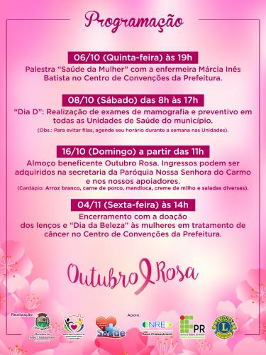 Assis realiza campanha Outubro Rosa