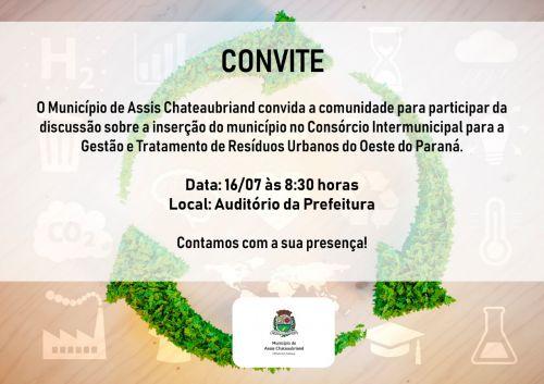 Município de Assis discutirá inserção no Consórcio para Gestão de Resíduos