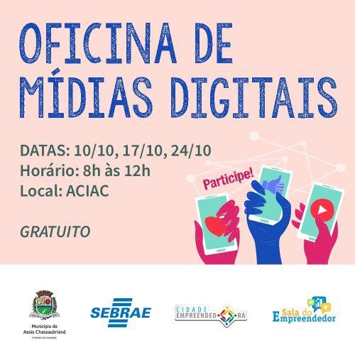 Oficina de Mídias Digitais tem inscrições abertas e vagas limitadas