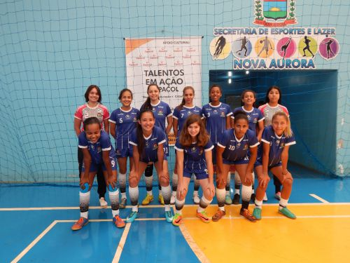 Futsal feminino vence e garante vaga na semifinal do regional em Nova Aurora