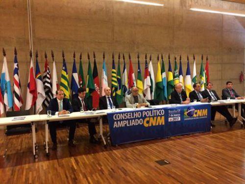 Os compromissos tiveram início com a reunião do Conselho Político Ampliado realizado pela CNM