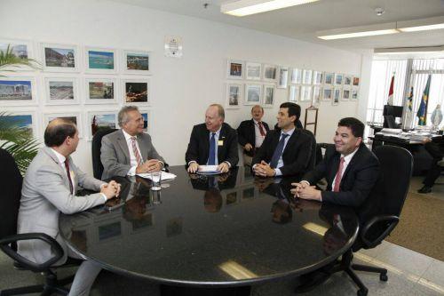 Audiência com o líder do PMDB no Senado Federal Renan Calheiros