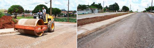 Asfaltamento dos bairros Cristo Rei e Tropical está na reta final