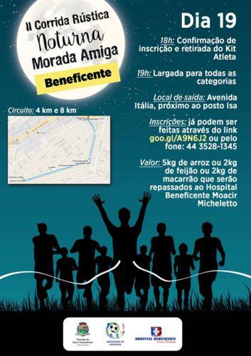 Corrida Noturna Morada Amiga contará com mais de 200 participantes