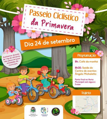 Domingo tem Passeio Ciclístico da Primavera