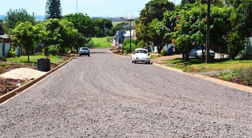Avançam os trabalhos de pavimentação no Jardim América
