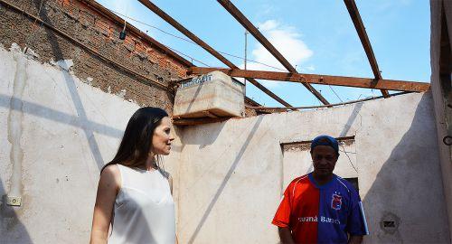 No levantamento, 119 moradores pediram auxílio para reforma dos telhados