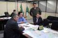 Prefeito  Marcel Micheletto com secretário da SEDU, Ratinho Júnior