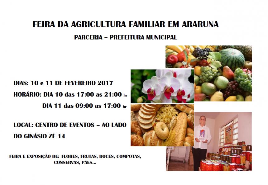 FEIRA DA AGRICULTURA FAMILIAR EM ARARUNA