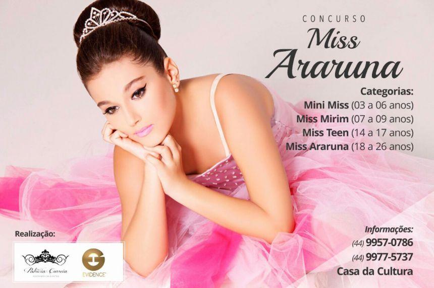 Concurso Miss Araruna abre inscrições
