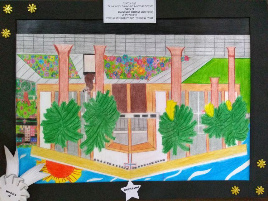 Os desenhos irão ilustrar o Calendário Municipal de 2019. Fotografia: Jhony de Oliveira Lima.