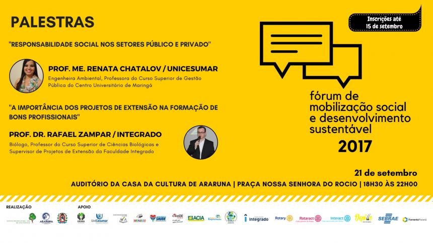 Prefeitura e Instituto promoverão fórum para debate sobre desenvolvimento sustentável