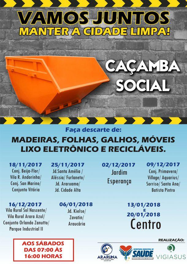Banner de Divulgação do Projeto Caçamba Social