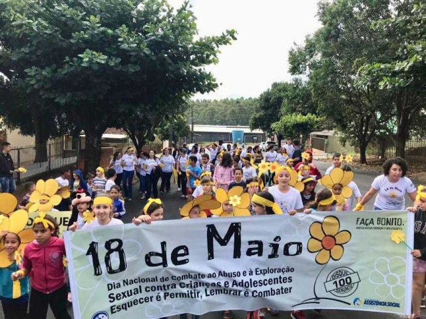 A Secretaria Municipal de Assistência Social de Araruna realizou uma ação comunitária de conscientização sobre  o  abuso e exploração  sexual infato- juvenil