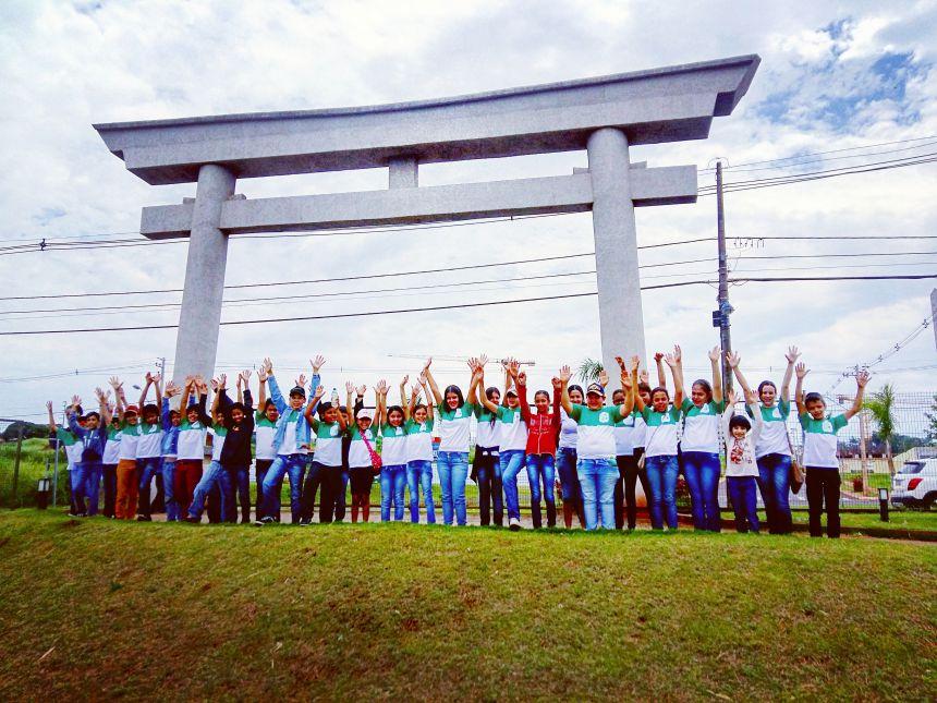 Crianças dos distritos de São Vicente e São Geraldo visitam o maior Jardim Japonês da América Latina