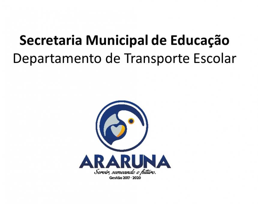 NOTA DE ESCLARECIMENTO: Transporte Escolar.