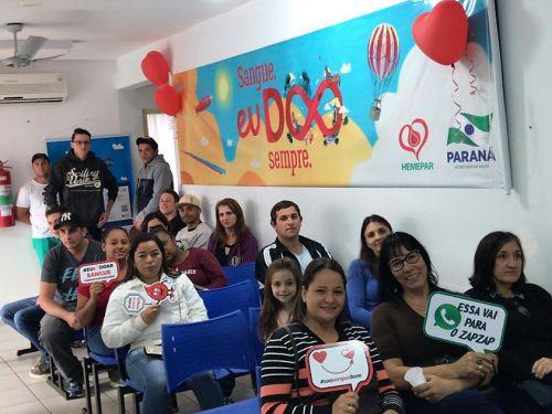 Campanha de doação de sangue segue de junho a dezembro em Araruna. Fotografia: Secretaria Municipal de Saúde de Araruna.