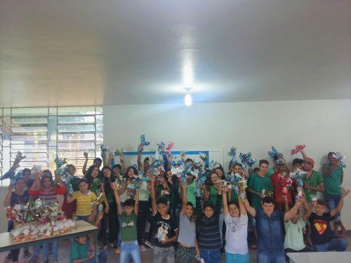 Todo o corpo discente da unidade educacional foi beneficiado com a ação. Fotografia: Jhony de Oliveira Lima.