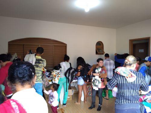 Última entrega das arrecadações foi realizada na área urbana da cidade. Fotografia: Jhony de Oliveira Lima.