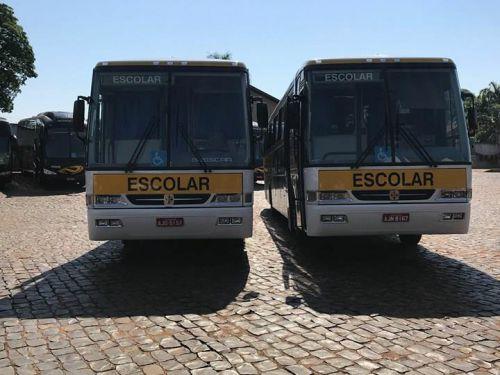 Educação adquire mais dois ônibus para a frota de Transporte Escolar.