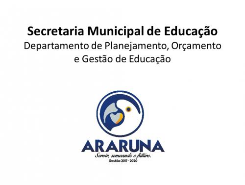 Departamento de Planejamento, Orçamento e Gestão de Educação