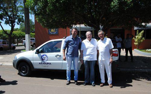 Deputado visita Araruna e oficializa entrega de veículo. Foto: Rivaldo de Mattos.