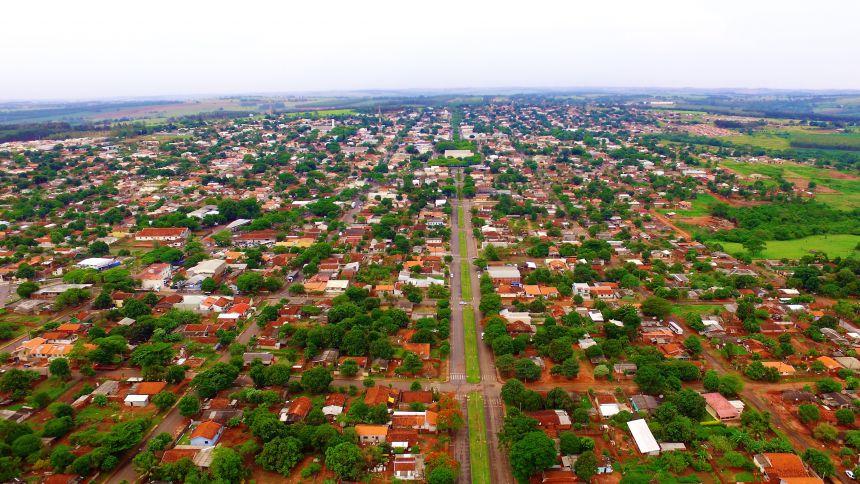 Avenida Paraná sobre a Vila Granada