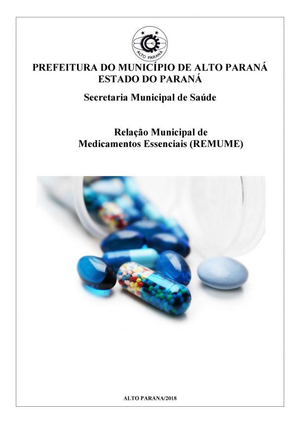 REMUME - RELAÇÃO MUNICIPAL DE MEDICAMENTOS ESSENCIAIS