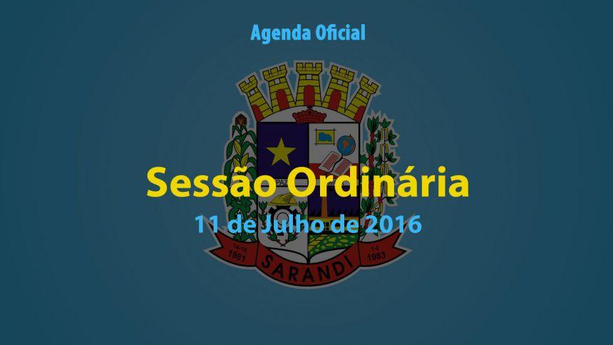 Sessão Ordinária de 11 de Julho de 2016