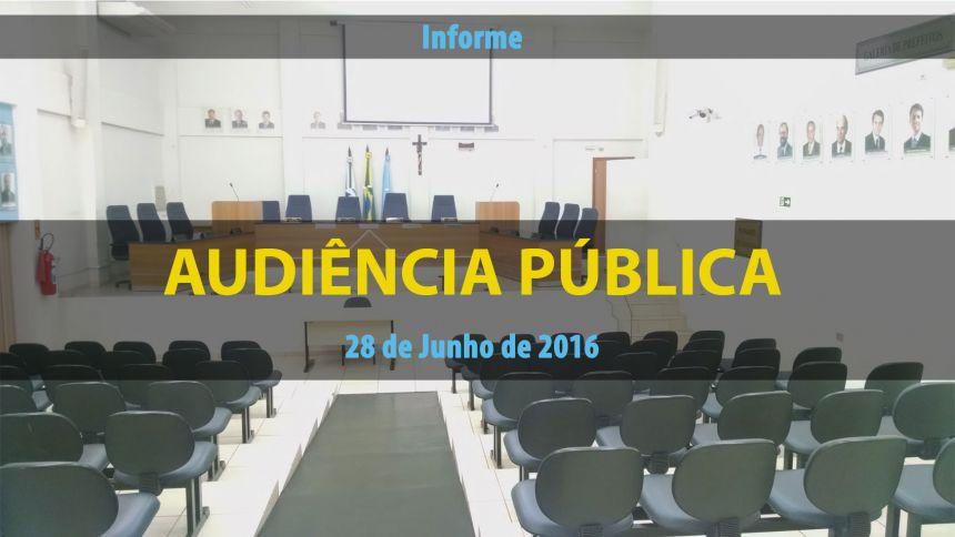 Audiência Pública na próxima Terça-feira