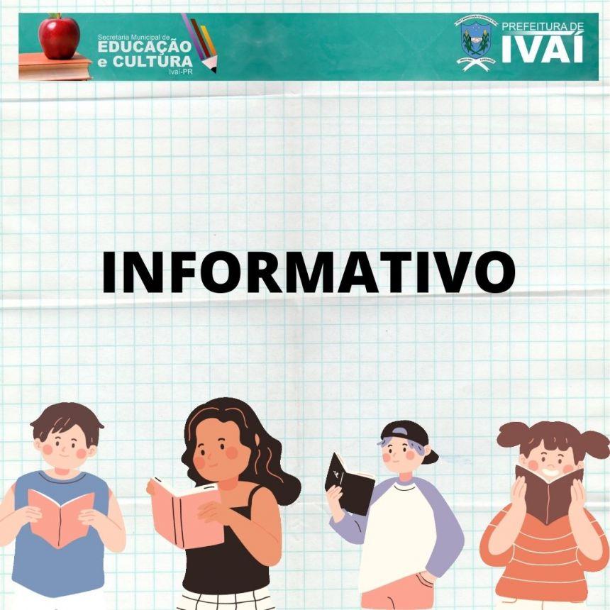 INFORMATIVO SECRETARIA MUNICIPAL DE EDUCAÇÃO E CULTURA