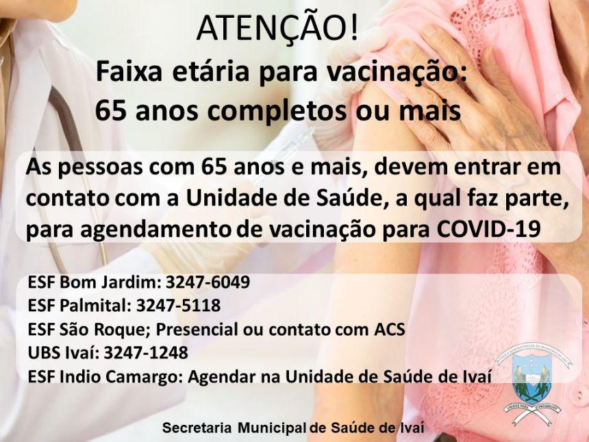 BOLETIM VACINAÇÃO COVID-19 - 05/04/2021