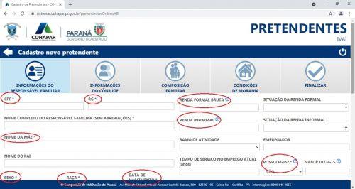 CADASTRO PARA PROGRAMAS HABITACIONAIS EM IVAÍ