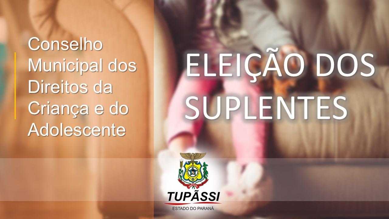 Estão abertas as inscrições para candidato à suplente do Conselho Tutelar de Tupãssi