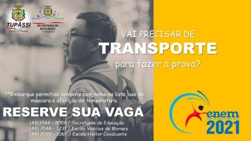 ENEM: Tupãssi Disponibilizará Ônibus para Transporte no Dia das Provas