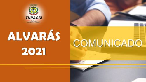 Contribuintes Poderão Retirar as Guias para Pagamento dos Alvarás 2021 Através do Portal do Município