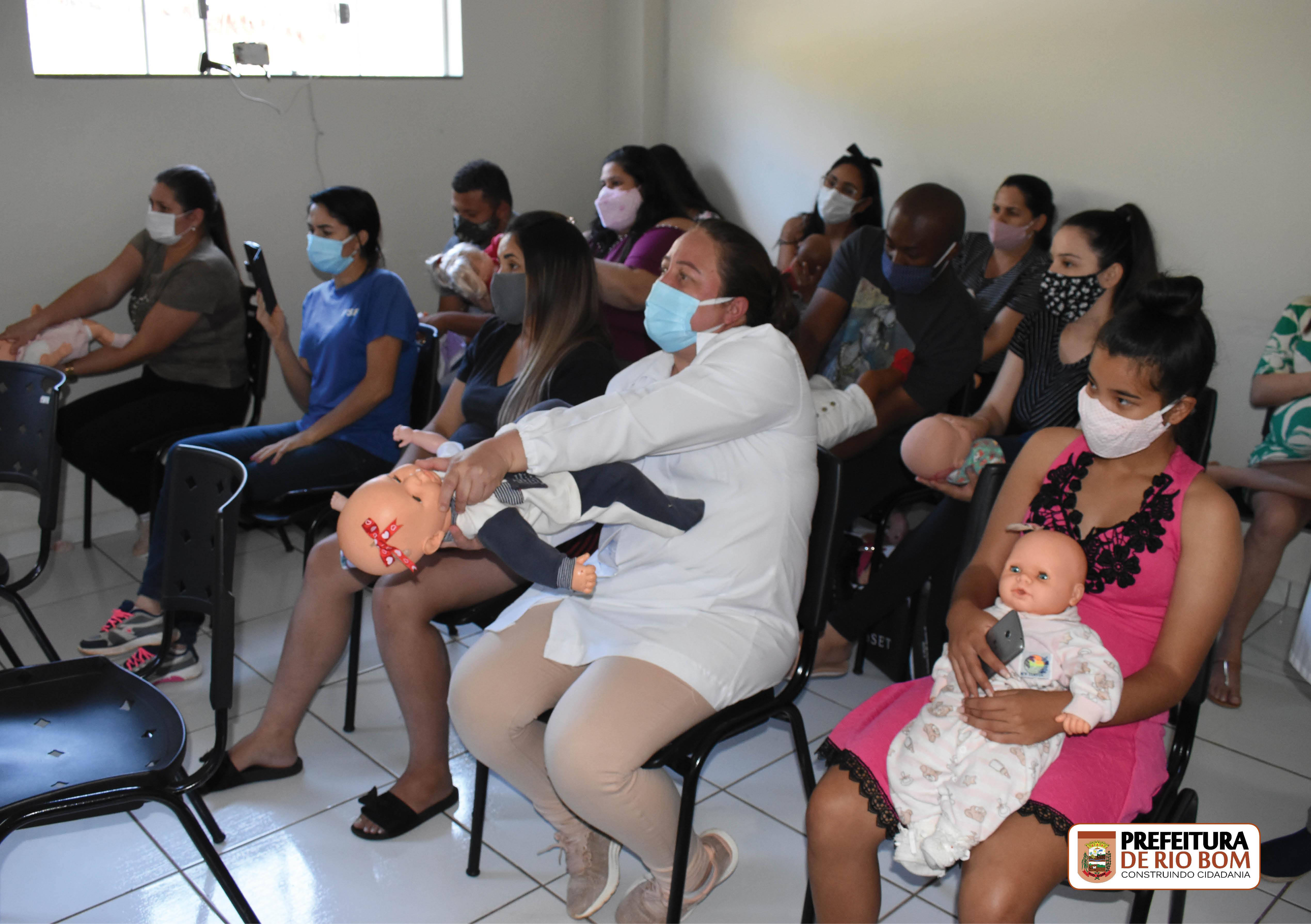 USF e SAMU apresentaram procedimentos contra afogamento para Grupo de Gestantes