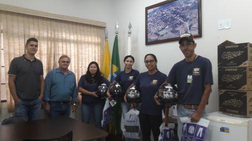 ACSs da zona rural recebem kits de segurança do gabinete do prefeito