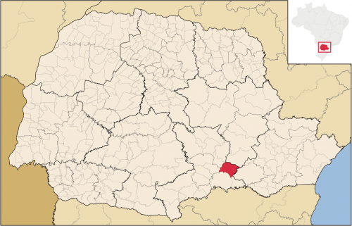 Localização de São João do Triunfo no Paraná