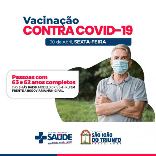 SÃO JOÃO DO TRIUNFO RECEBE NOVAS DOSES E AMPLIA VACINAÇÃO CONTRA A COVID-19 PARA IDOSOS A PARTIR DE 62 ANOS.