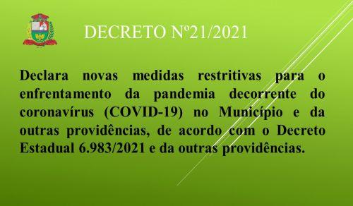 DECRETO Nº21/2021