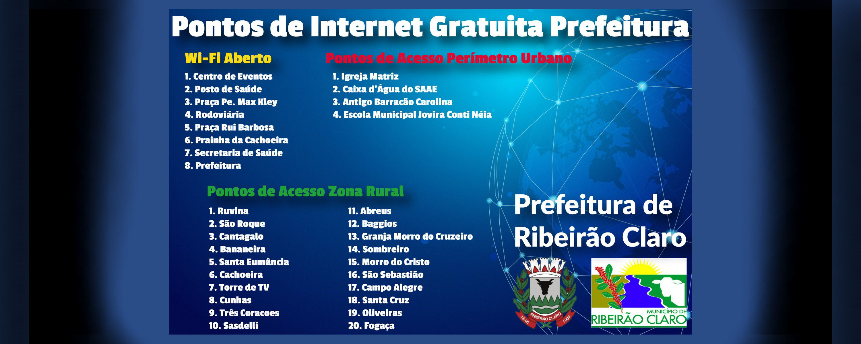 Internet Ribeirão Claro Digital terá ampliação de velocidade e continuará gratuita
