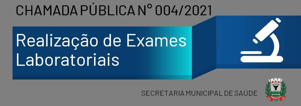CHAMADA PUBLICA 004/2021