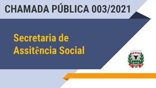 Editais de Chamada Publica 003/2021