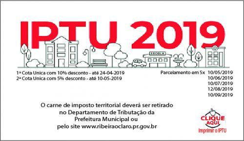 NOVO LINK PARA IMPRESSÃO DO CARNÊ DO IPTU 2019!!!