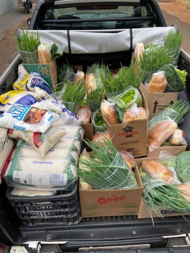 Alimentos doados pela PM e governo do Paraná beneficiarão 210 famílias