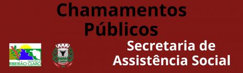 Editais de Chamamentos Públicos 2020 - Assistência Social