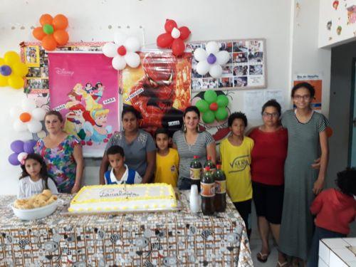 Comemoração dos aniversariantes no SCFV