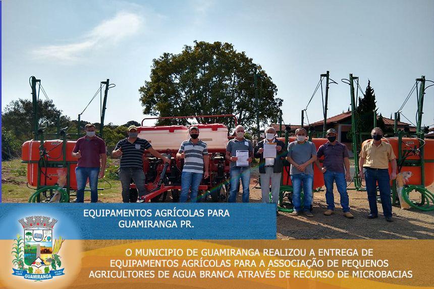 Entrega de Equipamentos Agrícolas para pequenos Agricultores do Município de Guamiranga!