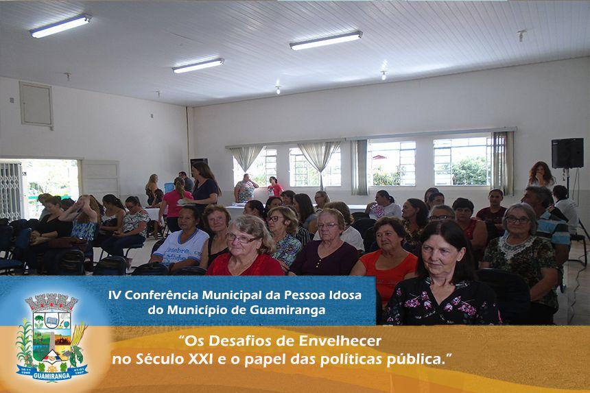 IV Conferência Municipal da Pessoa Idosa do Município de Guamiranga.